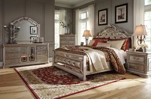 🌲Ashley Birlanny Silver Upholstered Panel Bedroom Set for Sale in Berwyn Heights, MD