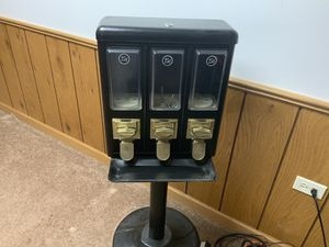 Triple time gum ball and candy vending machine for Sale in Mokena, IL