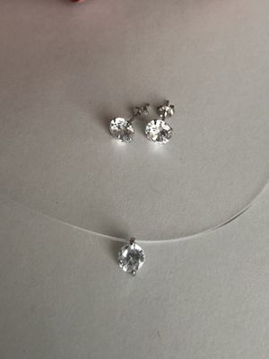 Brand New Sterling Silver 925 Earrings and Necklace for Sale in Los Angeles, CA