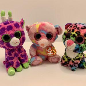 Ty Beanie Boos Plush Stuffed Animal Lot Of 3 - Dotty Franky Gilbert for Sale in Charleston, WV