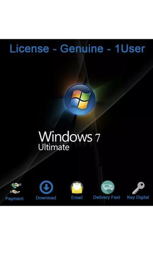 Windows 7 Ultimate Genuine License Key for Sale in Beverly Hills, CA