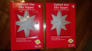 Battery Powered Star Tree Topper for Sale in Tampa, FL