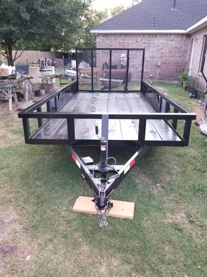"Square Pipe New Trailer 14'x76"" With Tailgate and Brakes*Traila* for Sale in Wylie, TX"