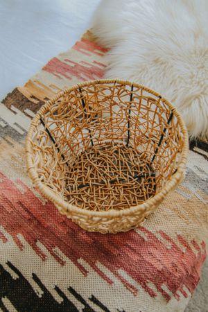 Wicker + Wire Medium Basket for Sale in Nashville, TN