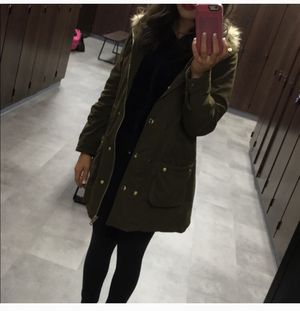 Forever 21 military green jacket parka for Sale in Houston, TX