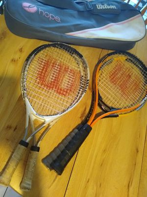 Name you Price! Make an offer and pick it up! Wilson Tennis Racquet bundle - (2) Two adult and (2) Two Jr racquets w bag - rackets for Sale in Miami, FL