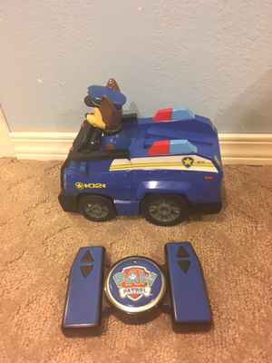 Remote control paw patrol Chase vehicle for Sale in Wenatchee, WA