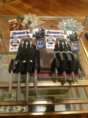 Avengers cosplay/dress up/Halloween black panther claws 20.00 each sealed unused unopened new 15.00 each weekend special... for Sale in Medford, MA