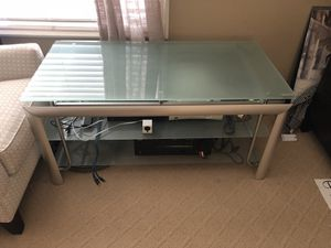 Stainless steel and glass tv stand / media center for Sale in Orange, CA