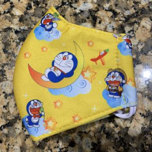 Kids Yellow Sleeping Cat Face Mask for Sale in Bakersfield, CA