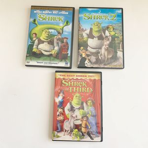 $3 DVD Movies YOU CHOOSE!- Lot of 3 Shrek Kids Movies on DVD for Sale in San Leandro, CA