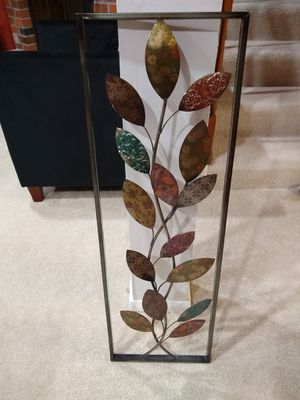 Rustic Metal Leaves Wall Decor for Sale in Herndon, VA