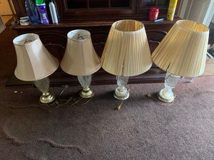 4 Lamps for Sale. for Sale in Newport News, VA