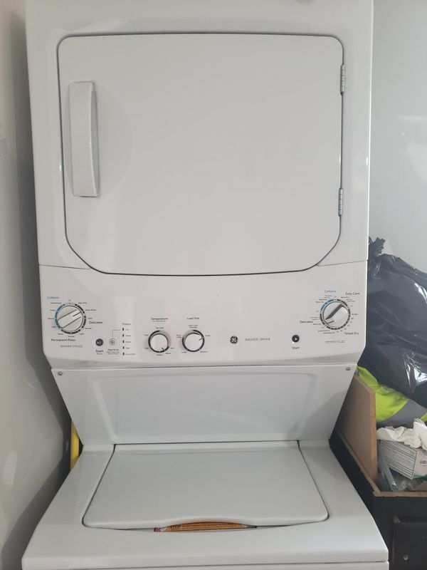 White laundry center 3.8 cu. Ft. Washer and 5.9 cu. Ft. 240 volted electric dryer