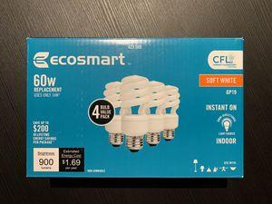 Ecosmart 60w CFL Soft White lightbulbs 4-pack for Sale in Alexandria, VA