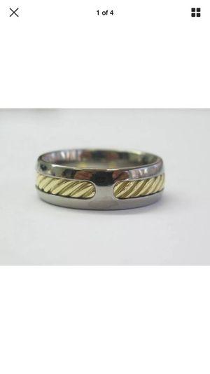 David yurman 18kt & ss wire ring sz 9 7.3mm for Sale in Los Angeles, CA