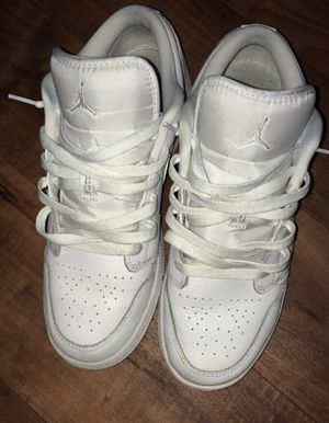 Jordan 1's low all white size seven for Sale in Newport News, VA