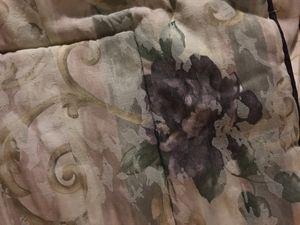 Queen comforter and bed ruffle - purple flowers for Sale in Las Vegas, NV
