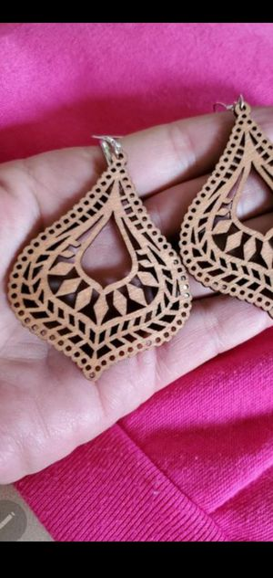 Ultralight weight handmade one of a kind wooden earrings NEW for Sale in Round Rock, TX