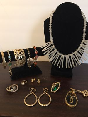 Omega gold watch, lucite necklace, orange stone gold bracelet, lock n key pin, and much more! Come see for Sale in Greenwood Village, CO