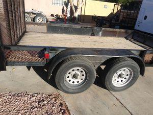 "77"" X 12' super heavy duty trailer 4 new tires for Sale in Las Vegas, NV"