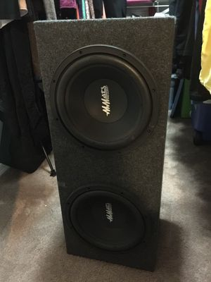 "2 12"" MMats Pro Audio subs with custom box for Sale in Fort Myers, FL"