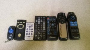Various car audio remotes for Sale in Columbus, OH