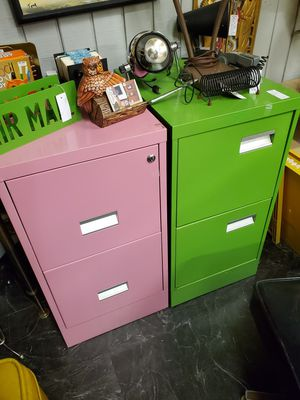 Groovy Vintage filling cabinets. Pink and Green (sold seperately) for Sale in Orange, CA
