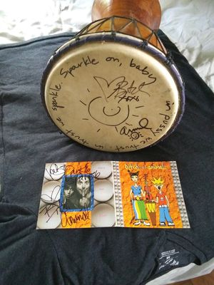 Signed bongo and cd cover..plus signed shorts for Sale in Lakeland, FL