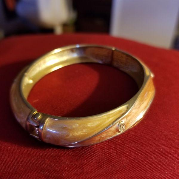 Vintage enamel plated bangle bracelet