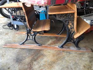 Antique desk dusty from storage FIRM no less $75 for Sale in La Habra, CA
