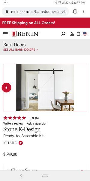 Renin Complete Barn Door Complete Kit for Sale in Pico Rivera, CA