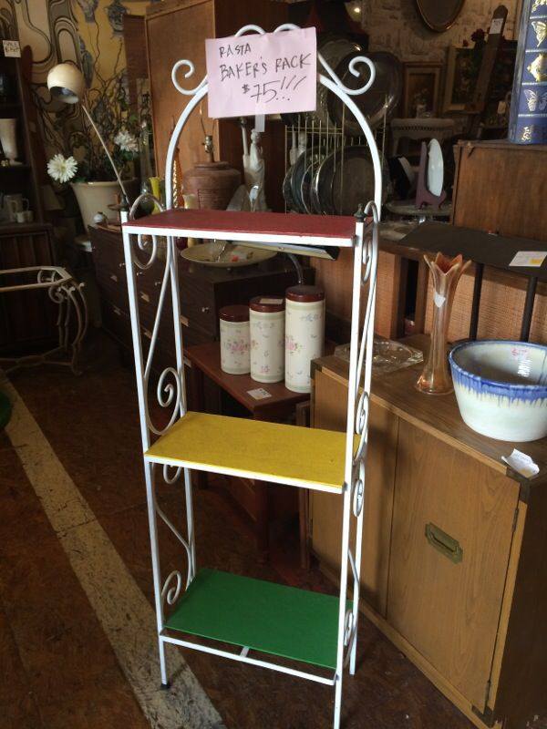 Iron bakers rack $75