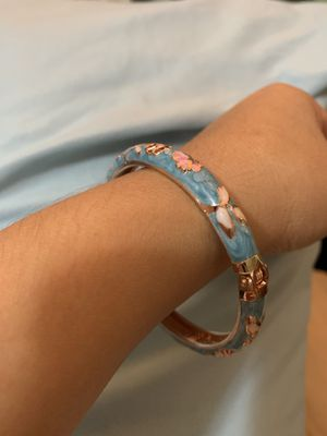 Bracelet beautiful imprints of flowers & butterflies for Sale in Tacoma, WA