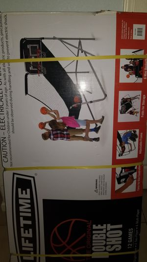 LIFETIME DOUBLE SHOT ELECTRIC BASKETBALL GAME for Sale in West Sacramento, CA