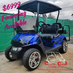 2015 EZ GO RXV BLUE FLAME GOLF CART for Sale in US