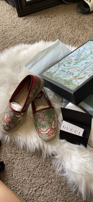 Authentic Gucci espadrilles 37.5 for Sale in Bonita, CA