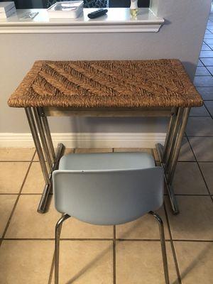 Small wicker table / desk 20x33x39 for Sale in Arlington, TX