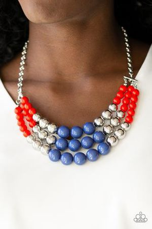Red silver blue necklace for Sale in Haines City, FL