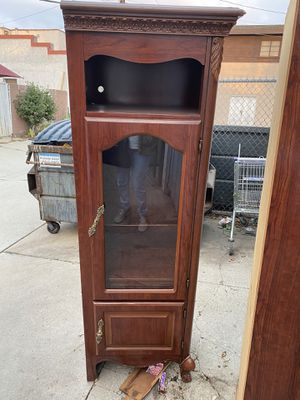 2 TALL CABINETS FREE .PICK UP ONLY OFF WILLOW AND ATLANTIC IN SIGNAL HILL/LONG BEACH for Sale in Murrieta, CA