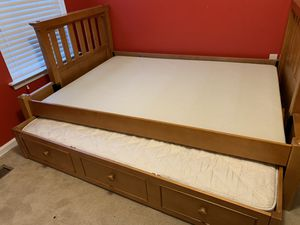 Twin over full bunk bed with drawer for Sale in Moorestown, NJ