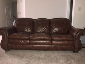 Genuine leather sofa for Sale in Rockville, MD