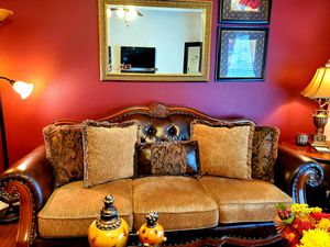 Beautiful Traditional Chenille Sofa! for Sale in Bellaire, TX