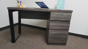 Andy Office Computer Desk, with File Cabinet, Distressed Grey and Black, SKU 171968 for Sale in Santa Ana, CA