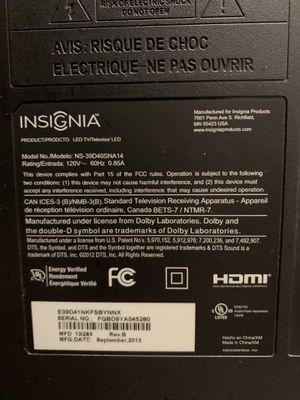 Insignia flat screen TV for Sale in Des Moines, IA