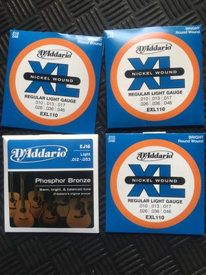 D'Addario Acoustic Guitar Strings - 4 Sets for Sale in Miami, FL