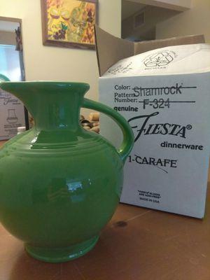 Fiestaware Shamrock Green. Carafe. Beverage pitcher for Sale in Plantation, FL