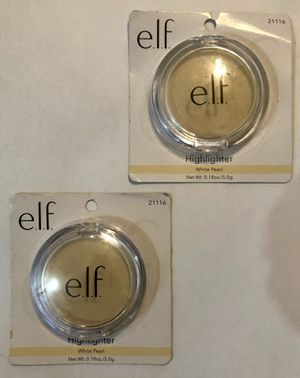 e.l.f. HIGHLIGHTER - WHITE PEARL - TWO PACKS for Sale in Charlotte, NC