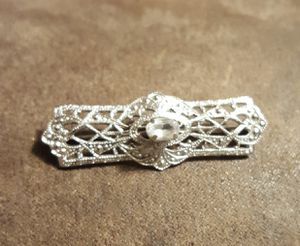Sterling Silver & CZ Filigree Brooch - Shelbyville pick up - $12 firm for Sale in Shelbyville, TN