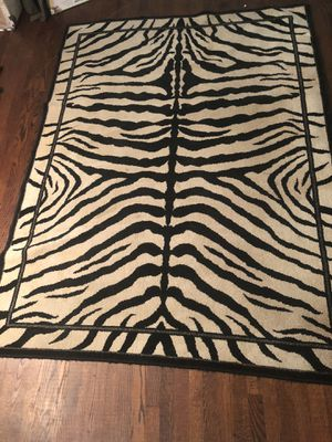 Zebra Area Rug for Sale in Falls Church, VA